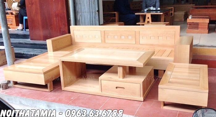 Hình ảnh Bộ ghế sofa gỗ đẹp giá rẻ mang phong cách thiết kế hiện đại