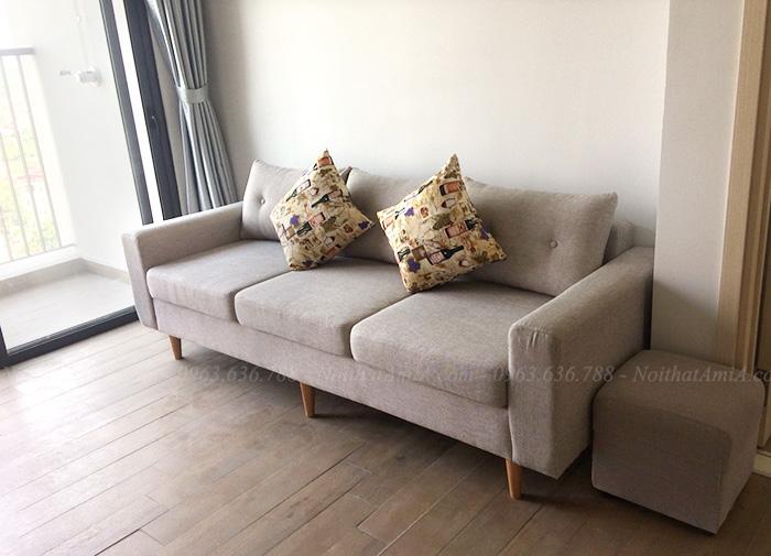 Hình ảnh Bộ ghế sofa nhỏ đẹp hiện đại bài trí trong phòng khách căn hộ chung cư