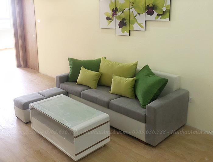 Hình ảnh Bộ bàn ghế sofa nhỏ đẹp hiện đại cho phòng khách đẹp