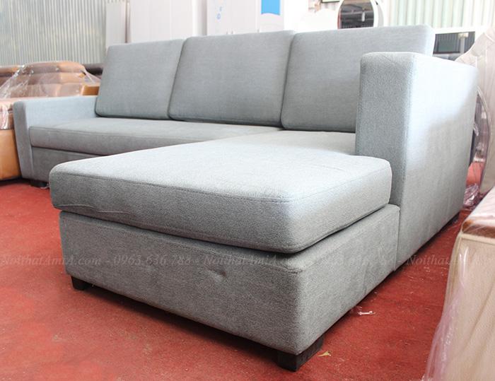 Hình ảnh Bộ ghế sofa nỉ đẹp hình chữ L thiết kế đơn giản mà đẹp