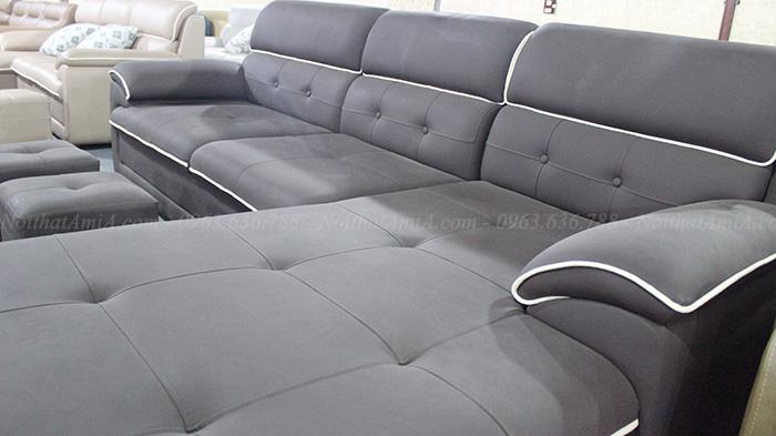 Các hình ảnh sofa da đẹp chụp trực tiếp tại Tổng kho Nội thất AmiA