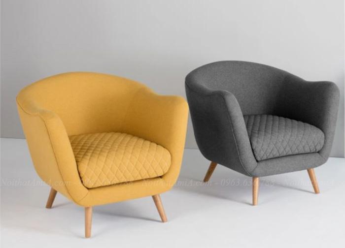 Hình ảnh Các mẫu ghế sofa đơn nhỏ mini cho không gian phòng khách nhỏ, phòng ngủ gia đình