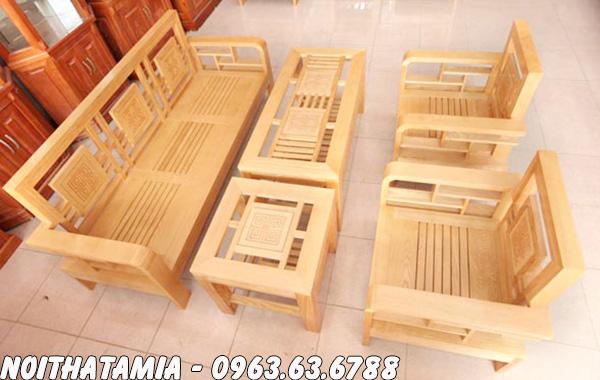 Hình ảnh Các mẫu ghế sofa gỗ đẹp cho phòng khách miễn chê