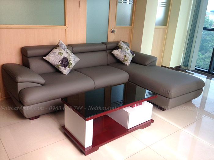 Hình ảnh Các mẫu sofa da đẹp kết hợp cùng bàn trà đẹp hiện đại