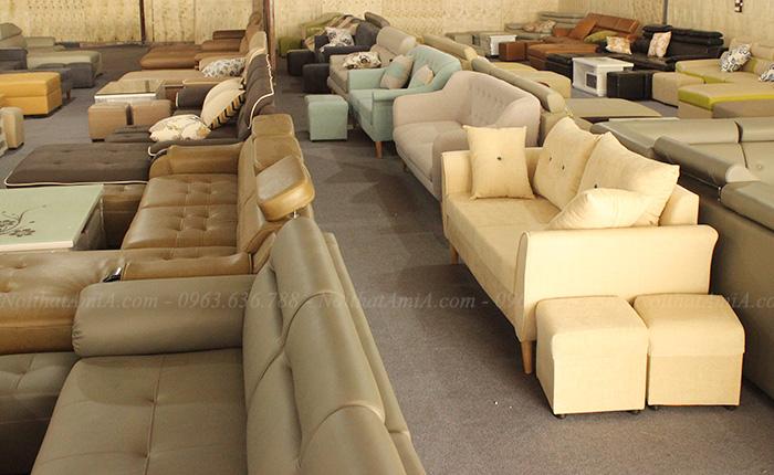 Hình ảnh các mẫu sofa nhỏ đẹp hiện đại với hình ảnh thực tế tại Tổng kho Nội thất AmiA