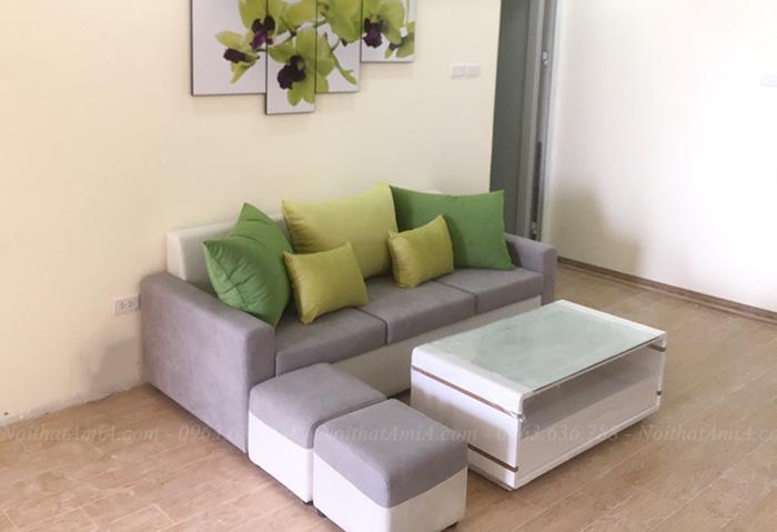 Hình ảnh Các mẫu sofa nhỏ đẹp thiết kế dạng ghế sofa văng nỉ