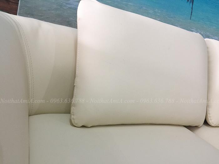 Hình ảnh Ghế sofa da chữ L đẹp hiện đại với hình ảnh chi tiết tại Nội thất AmiA