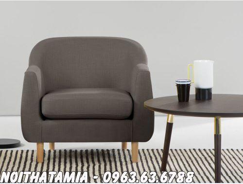 Hình ảnh Ghế sofa đơn phòng ngủ đẹp kết hợp bàn trà nhỏ xinh