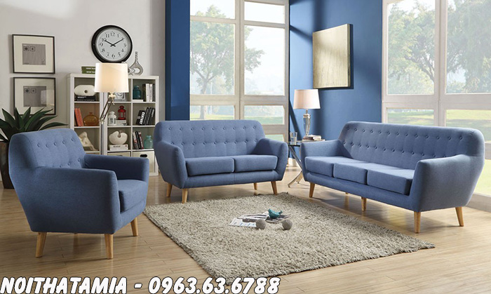 Hình ảnh Ghế sofa nhỏ đẹp xinh xắn bài trí trong căn phòng khách đẹp