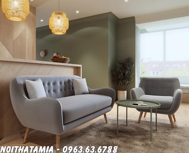 Hình ảnh Ghế sofa nhỏ giá rẻ thiết kế dạng ghế văng hiện đại kết hợp ghế sofa đơn