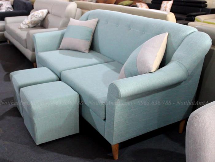 Hình ảnh Ghế sofa nhỏ gọn đẹp hiện đại với góc chụp phần tay ghế