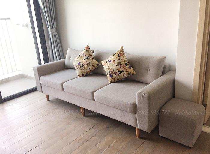 Hình ảnh Ghế sofa nhỏ gọn đẹp hiện đại với thiết kế dạng ghế văng 3 chỗ