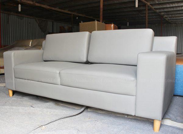 Hình ảnh Ghế sofa văng da đẹp hiện đại giá rẻ tại Kho nội thất AmiA