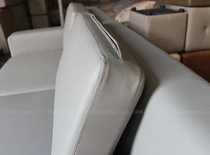 Hình ảnh Chi tiết mẫu ghế sofa văng da đẹp kích thước nhỏ xinh tại Nội thất AmiA