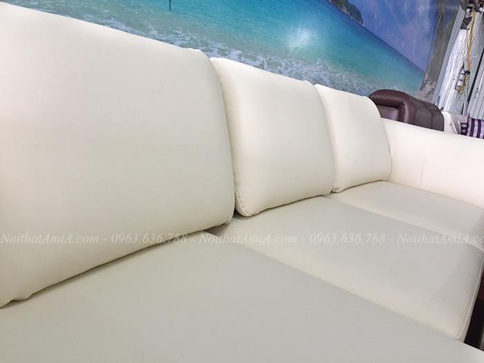 Hình ảnh chi tiết ghế sofa da chữ l đẹp hiện đại tại AmiA