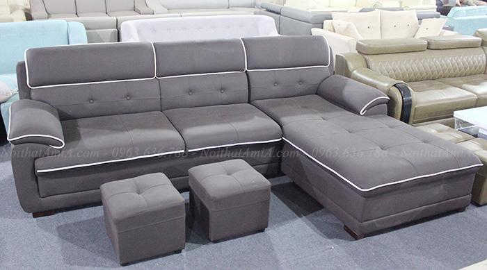 Hình ảnh ghế sofa da đẹp chụp thực tế tại Tổng kho Nội thất AmiA