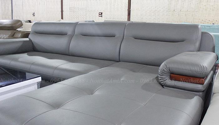 Hình ảnh sofa da đẹp với góc nhìn sát nhất với sản phẩm