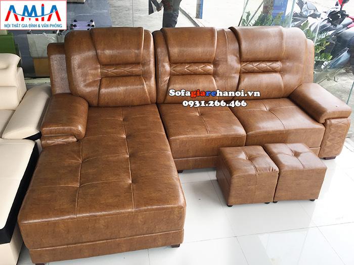 Hình ảnh Mẫu ghế sofa da đẹp giá rẻ cho phòng khách hiện đại