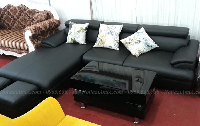 Hình ảnh Mẫu ghế sofa da góc đẹp tại Tổng kho AmiA