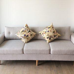 Hình ảnh Mẫu ghế sofa nhỏ xinh dạng sofa văng nỉ 3 chỗ