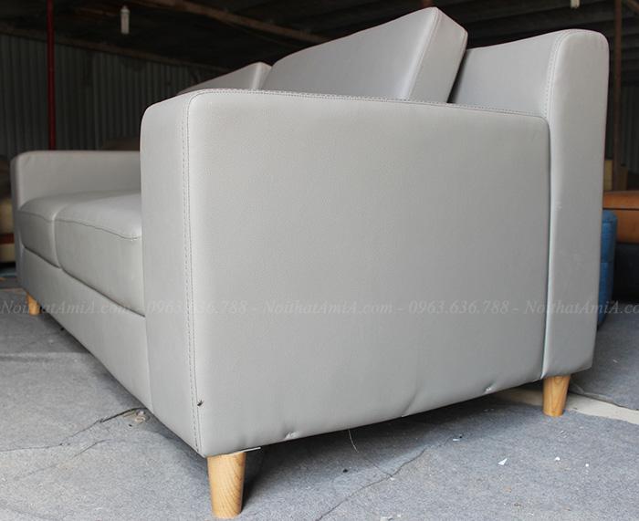 Hình ảnh Mẫu ghế sofa văng đẹp Hà Nội thiết kế 2 chỗ nhỏ xinh