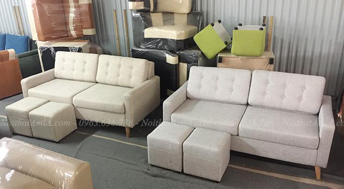 Hình ảnh Mẫu ghế sofa văng nỉ nhỏ 2 chỗ đẹp hiện đại giá rẻ