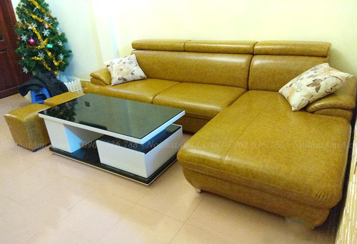 Hình ảnh Mẫu sofa da đẹp thiết kế dạng góc chữ L