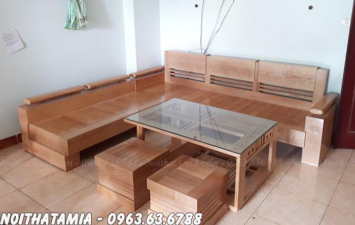 Hình ảnh Mẫu sofa gỗ đẹp hiện đại giá rẻ tại Hà Nội phân phối bởi Nội thất AmiA