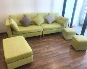 Hình ảnh Mẫu sofa nhỏ đẹp cho phòng khách nhà chung cư thật hiện đại và sang trọng