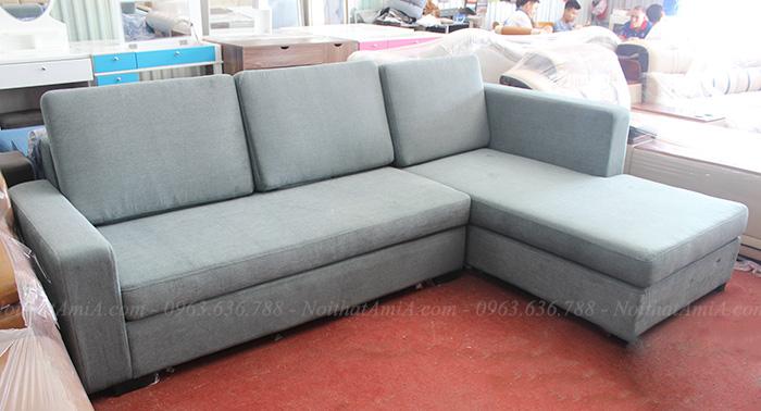 Hình ảnh Mẫu sofa nỉ đẹp chữ L với hình ảnh thực tế tại Tổng kho AmiA