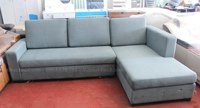 Hình ảnh Sofa chữ L chất liệu nỉ đẹp hiện đại giá rẻ tại Hà Nội