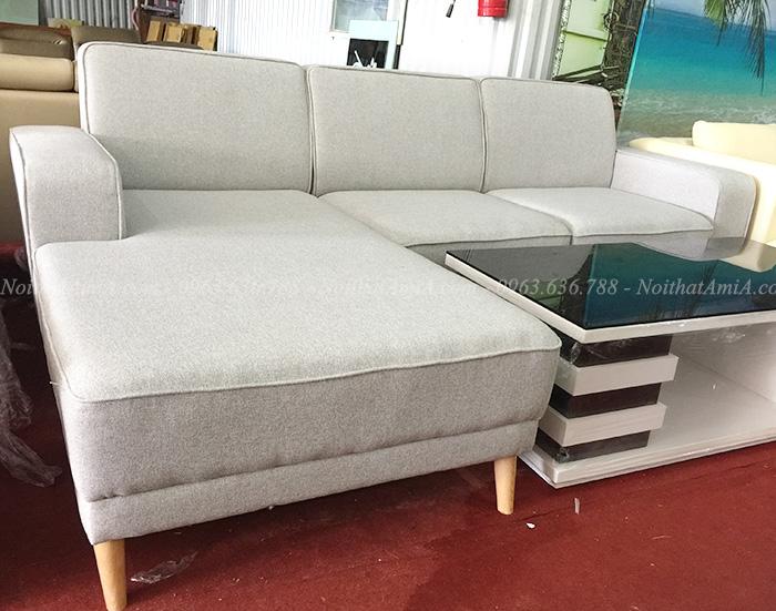 Hình ảnh Sofa chữ L nỉ đẹp hiện đại chụp tại Nội thất AmiA