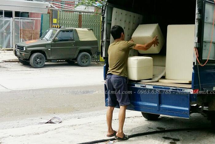 Hình ảnh Sofa da chữ l đẹp hiện đại giá rẻ được vận chuyển đến nhà khách hàng