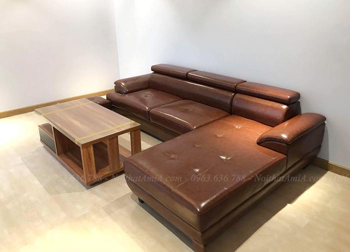 Hình ảnh ghế sofa da phòng khách đẹp tại Hà Nội