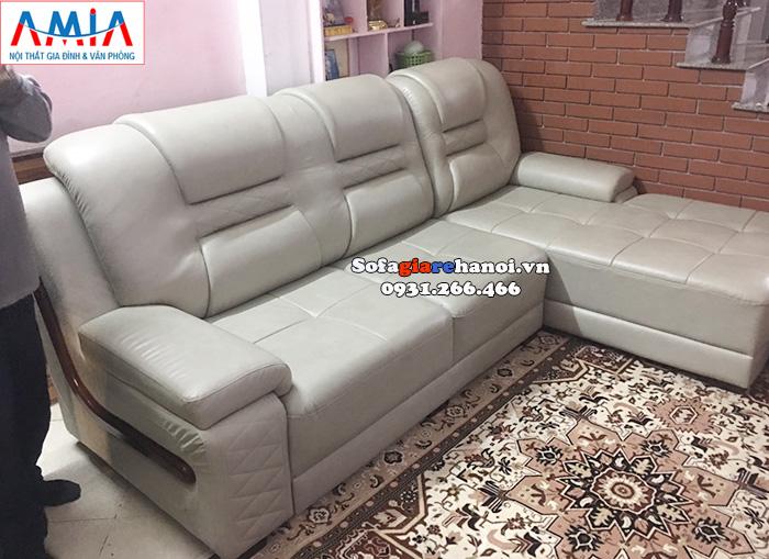 Hình ảnh sofa da phòng khách lớn giá rẻ cho nhà phố, nhà chung cư