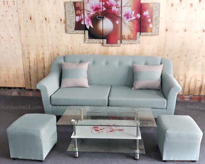 Hình ảnh Sofa nhỏ gọn đẹp hiện đại cho phòng khách gia đình Việt
