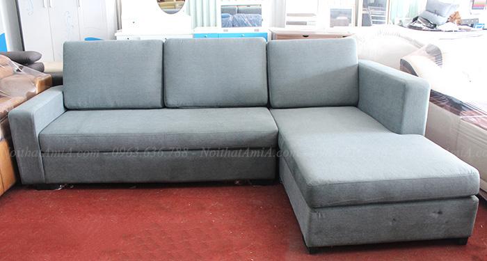 Hình ảnh Sofa nỉ chữ L đẹp thiết kế đơn giản với kích thước nhỏ xinh