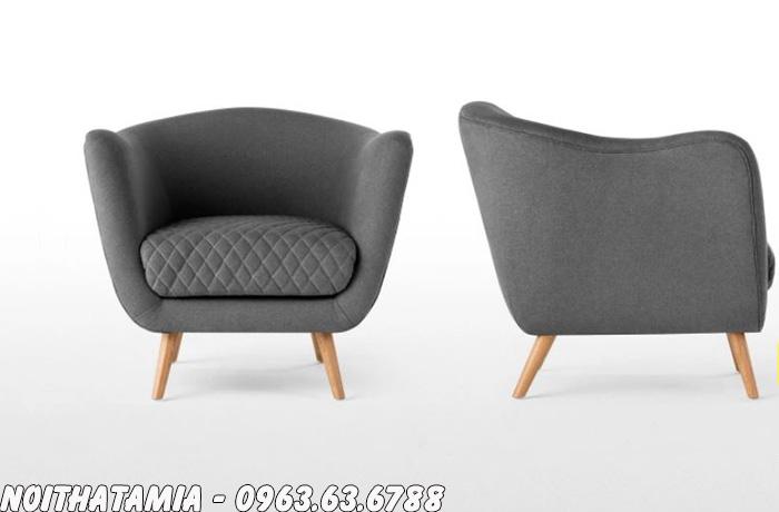Hình ảnh Sofa phòng ngủ nhỏ với góc chụp chính diện và phía cạnh