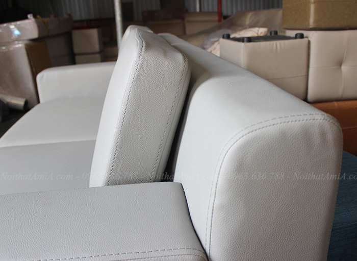 Hình ảnh Sofa văng da 2 chỗ nhỏ xinh cho căn phòng khách nhỏ