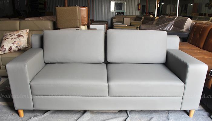 Hình ảnh Sofa văng da đẹp hiện đại kích thước nhỏ cho không gian vừa và nhỏ