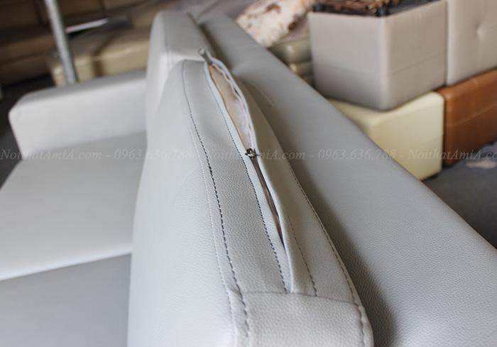 Hình ảnh Sofa văng da giá rẻ Hà Nội với hình ảnh thực tế tại Nội thất AmiA