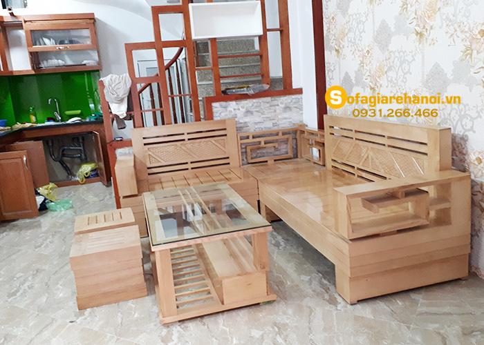 Hình ảnh ghế gỗ phòng khách đẹp hiện đại cho gia đình Việt