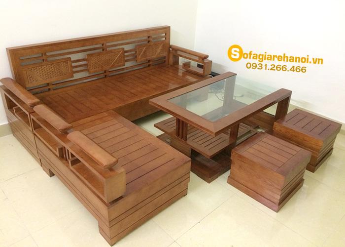 Hình ảnh Bộ sofa gỗ đẹp hiện đại giá rẻ cho phòng khách gia đình Việt