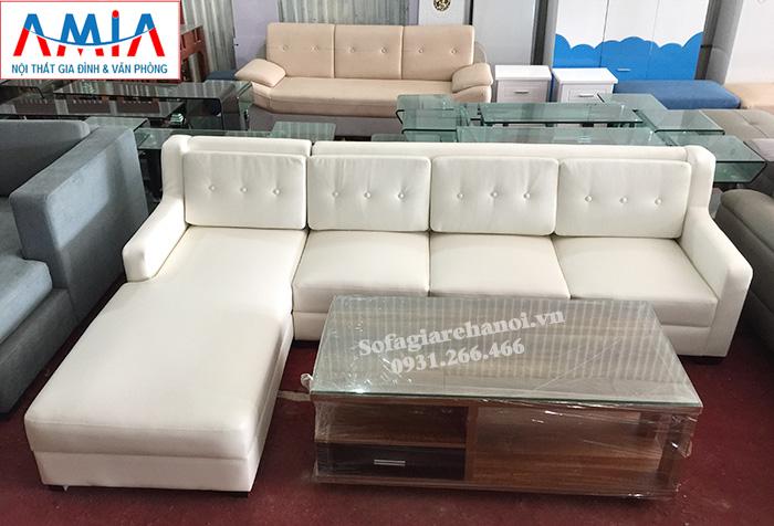 Hình ảnh Ghế sofa da đẹp cho phòng khách gia đình hiện đại