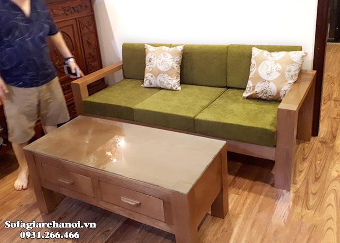 Hình ảnh Ghế sofa gỗ văng đẹp làm theo yêu cầu tại Nội thất AmiA