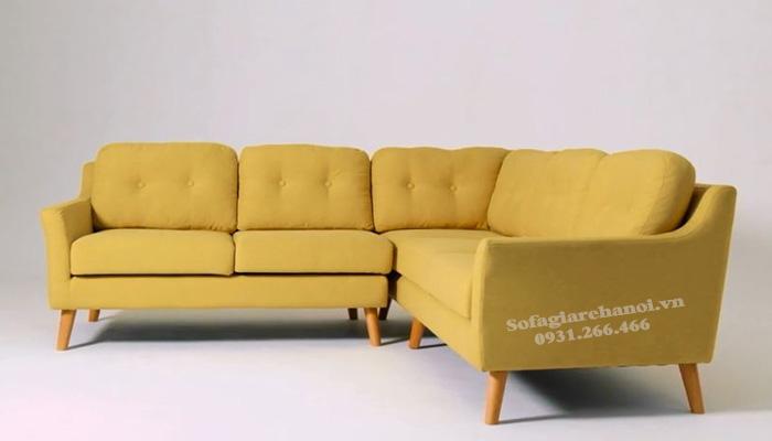 Hình ảnh Ghế sofa nỉ cho phòng khách đẹp thiết kế hiện đại hình chữ L