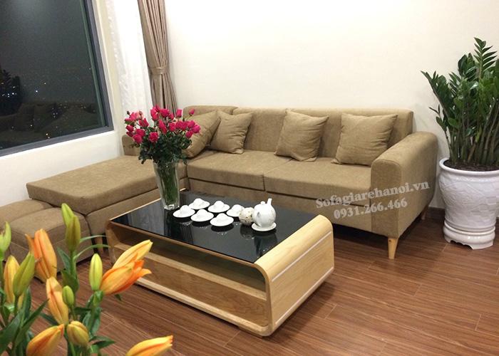 Hình ảnh Ghế sofa nỉ đẹp hiện đại kê cho phòng khách nhà chung cư