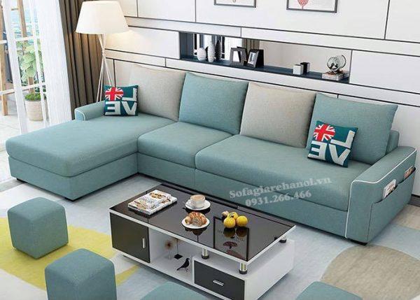 Hình ảnh Mẫu sofa nỉ đẹp chữ L 4 chỗ hiện đại và sang trọng