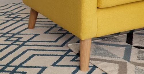 Hình ảnh chi tiết phần chân đế mẫu sofa nỉ đẹp hiện đại