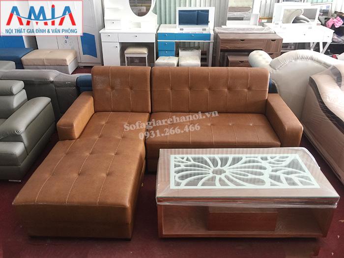 Hình ảnh Sofa da đẹp cho phòng khách nhỏ gia đình